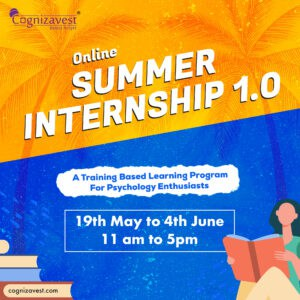summer internship 15 days of interactive training in Psychology field